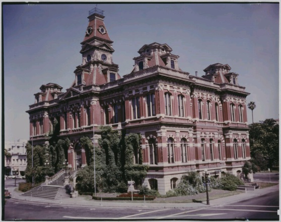 Old City Hall, San Jose, CA. Built 1887. Demolished June, 1958 amidst fairly intense protest.