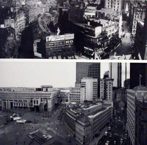 Scollay Square Before and After
