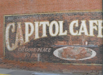 Capital Cafe sign, Platteville, WI