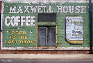 Restored Maxwell House ad - Pennington Grocery Co., Pauls Valley, OK