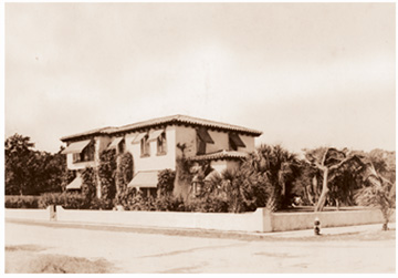 Giles House, Boca Raton, Florida, in happier times